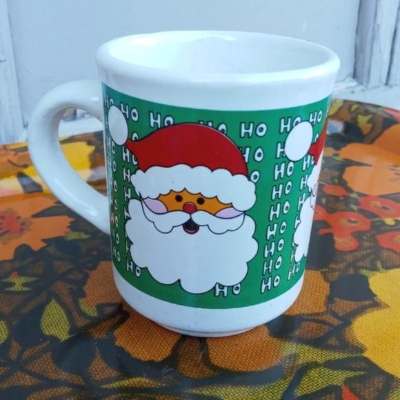 VINTAGE COFFEE MUG SANTA HO HO HO